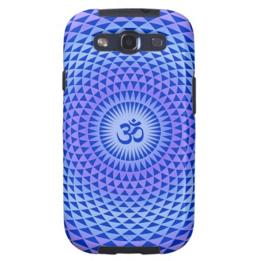 Rueda púrpura OM de la meditación de la flor de Lo Samsung Galaxy S3 Cárcasas