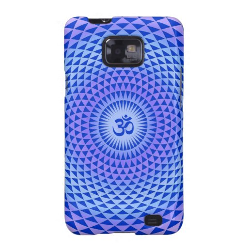 Rueda púrpura OM de la meditación de la flor de Lo Samsung Galaxy S2 Carcasa