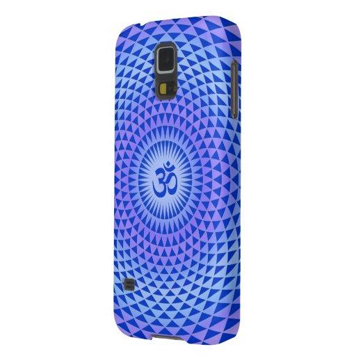 Rueda púrpura OM de la meditación de la flor de Lo Fundas Para Galaxy S5