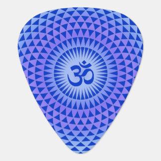 Rueda púrpura OM de la meditación de la flor de Lo Plumilla De Guitarra