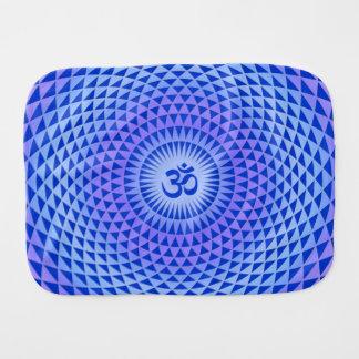 Rueda púrpura OM de la meditación de la flor de Lo Paños Para Bebé