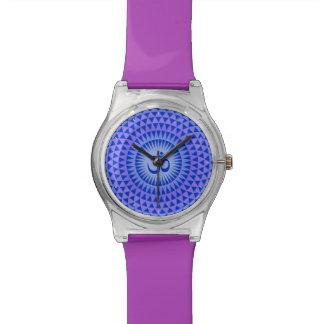Rueda púrpura OM de la meditación de la flor de Lo Relojes De Mano