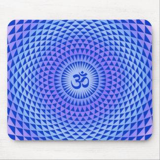 Rueda púrpura OM de la meditación de la flor de Lo Tapetes De Raton