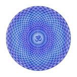 Rueda púrpura OM de la meditación de la flor de Tabla De Cortar