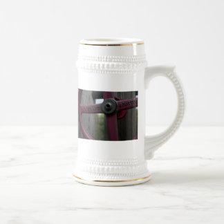 Rueda roja del metal tazas de café