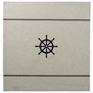 Rueda rústica de la nave servilleta de papel
