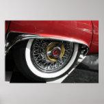 rueda spoked TBird de los años 50 Poster