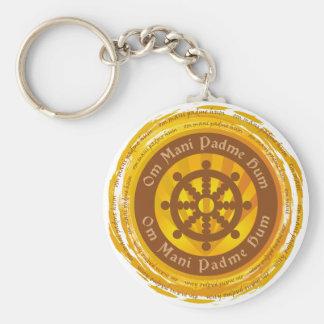 Rueda tibetana de Dharma del mantra Llaveros Personalizados