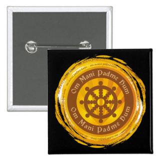 Rueda tibetana de Dharma del mantra Pins