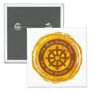 Rueda tibetana de Dharma del mantra Pin