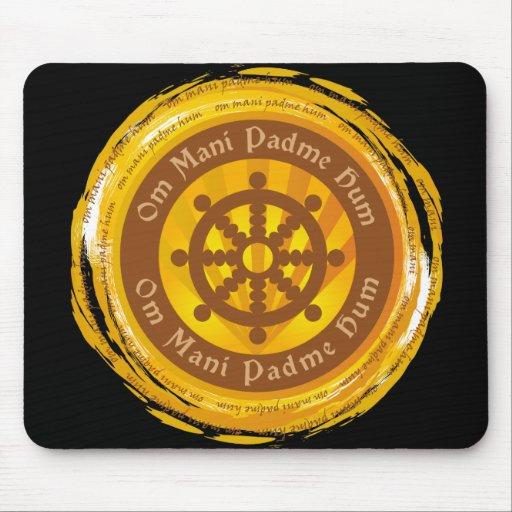 Rueda tibetana de Dharma del mantra Tapete De Ratones