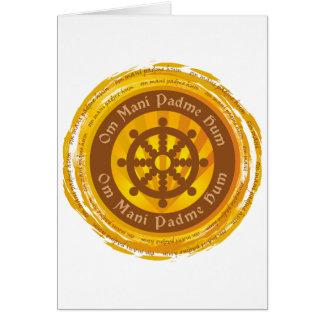 Rueda tibetana de Dharma del mantra Tarjetón