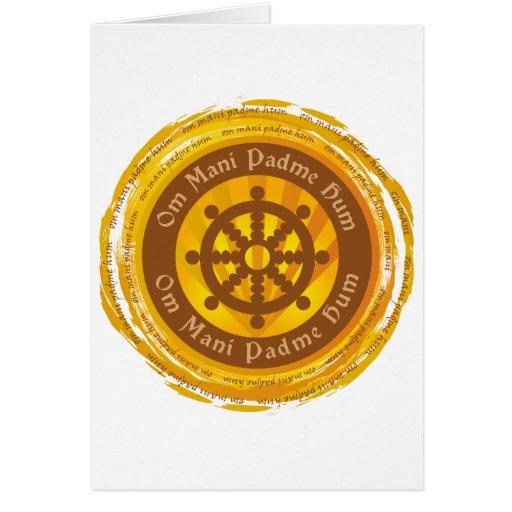 Rueda tibetana de Dharma del mantra Tarjeta De Felicitación