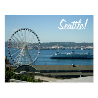 Rueda y transbordador de Seattle Tarjetas Postales