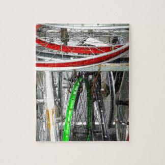 Ruedas de bicicleta puzzle con fotos