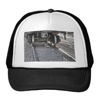 Ruedas de coche de tren de ferrocarril que golpean gorro