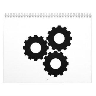 Ruedas de engranaje calendarios