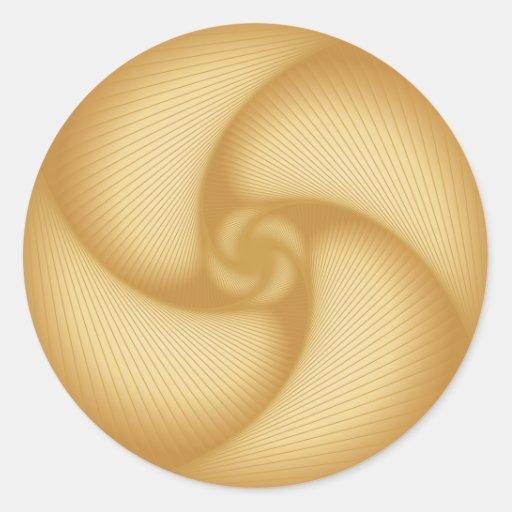 Ruedas de hilado de oro pegatina redonda