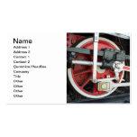 Ruedas de la locomotora de vapor tarjetas personales