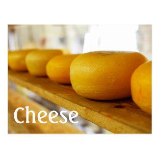Ruedas de la postal del queso