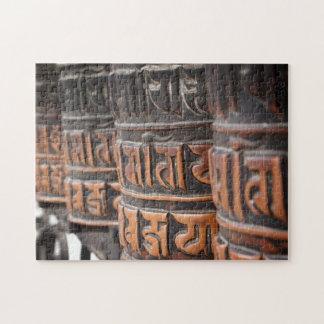 Ruedas de rezo budistas rompecabezas con fotos