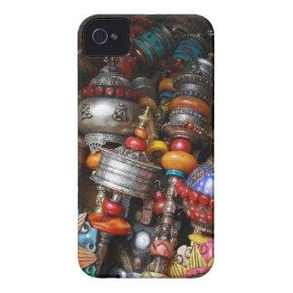 Ruedas de rezo tibetanas - caja intrépida de funda para iPhone 4 de Case-Mate