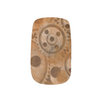 Ruedas de Steampunk Stickers Para Uñas