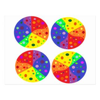 ruedas del color postales