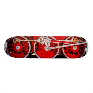Ruedas del tren del vapor del vintage skate board