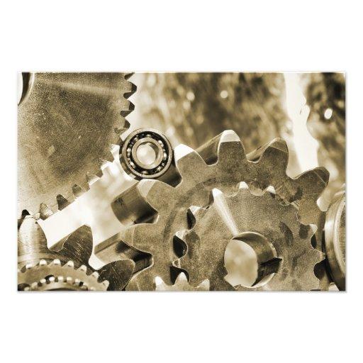 ruedas dentadas titanium y de acero arte fotográfico