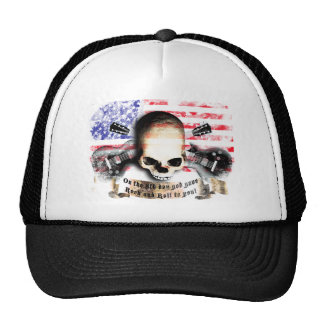 ruedas flag rock and skull and guitars gorros