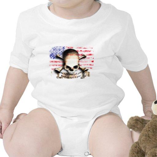ruedas flag rock and skull and guitars traje de bebé