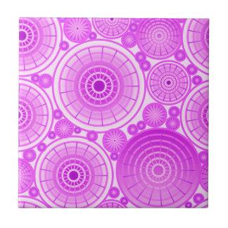 Ruedas jerarquizadas - lavanda y púrpura azulejo cuadrado pequeño