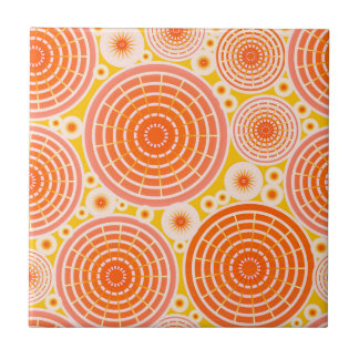 Ruedas jerarquizadas - naranja y oro azulejo cuadrado pequeño