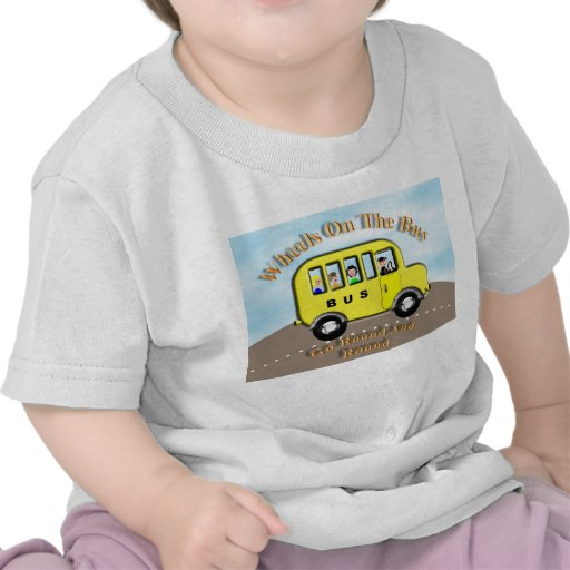 Ruedas lindas en el top del autobús del niño de Pe Camiseta