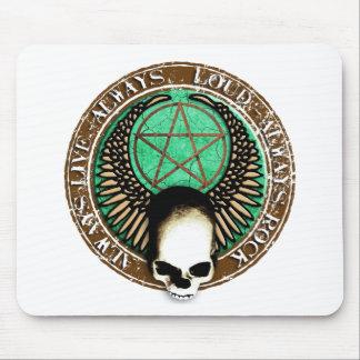 Ruedas Pentagram rock and skull Alfombrilla De Ratón