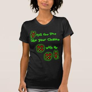 Ruede la pequeña camiseta del diablo de los dados polera
