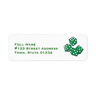 Ruede las etiquetas de correo de los dados etiquetas de remite