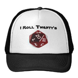 Ruedo el gorra de veinte