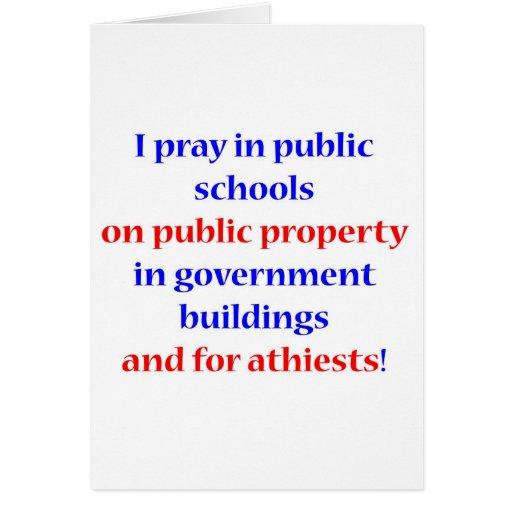 Ruego en escuelas públicas tarjetón