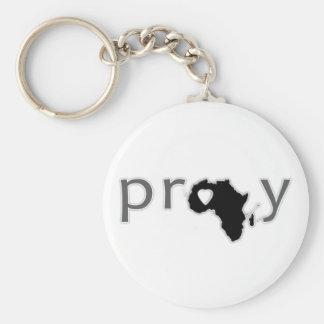 Ruegue el | África Llavero Redondo Tipo Pin