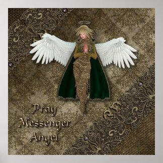 Ruegue el ángel del mensajero póster