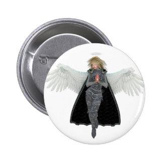Ruegue el ángel del mensajero chapa redonda 5 cm
