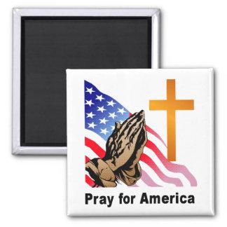 Ruegue para América Imán Cuadrado