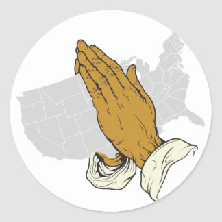 Ruegue para América Pegatina Redonda