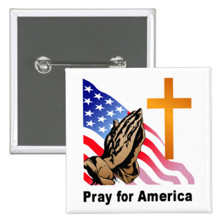 Ruegue para América Pin Cuadrado