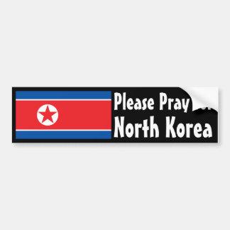 Ruegue para Corea del Norte Pegatina Para Auto