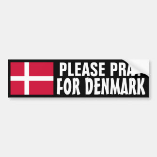 Ruegue para Dinamarca Pegatina Para Auto