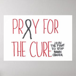 Ruegue para el poster de la conciencia del cáncer