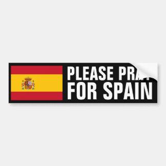 Ruegue para España Pegatina Para Auto